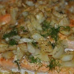 Baked Orange Salmon with Fennel Recipe