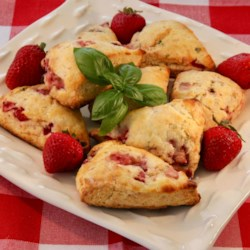 Strawberry and Basil Scones