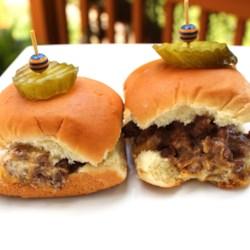 slider style mini burgers printer friendly