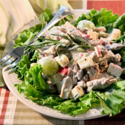 fruity chicken salad with tarragon printer friendly