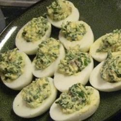 Spinach Deviled Eggs