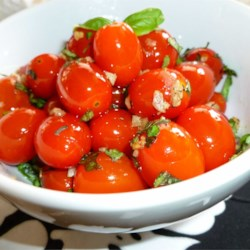 Sauteed Cherry Tomatoes with Garlic and Basil Recipe