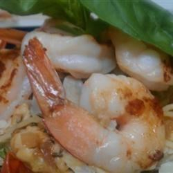 Angel Hair with Shrimp and Basil