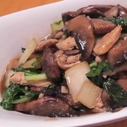 Chinese-Style Baby Bok Choy with Mushroom Sauce Recipe
