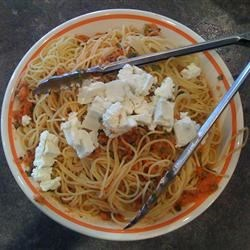 Tomato Basil Spaghettini Recipe
