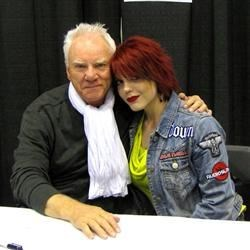 Myself with Malcolm McDowell