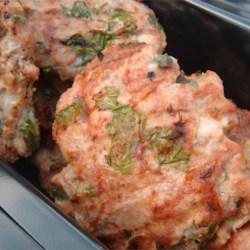 Turkey Spinach Feta Burgers