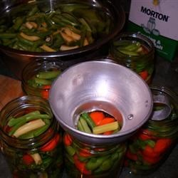 the last of the green beans and carrots