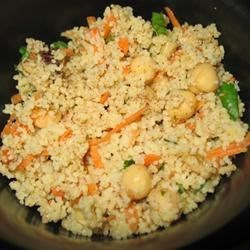 Couscous Salad with Chickpeas, Dates & Cinnamon Recipe