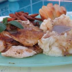 roast sticky chicken - rotisserie style