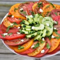 heirloom tomato salad with feta printer friendly