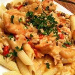 Peppered Shrimp Alfredo Recipe