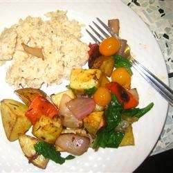 Photo of Balsamic Roasted Vegetable Salad by Laura N