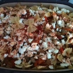 Photo of Grilled Eggplant and Feta Farfalle by Alexis