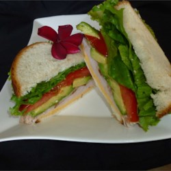Turkey Bacon Avocado Sandwich