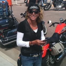 Motorcycle parade in Cripple Creek