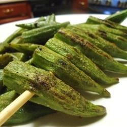 Photo of Grilled Okra by Mr. Greekagojun