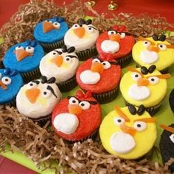 Angry Birds Chocolate Cupcakes