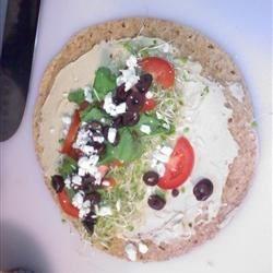Hummus Sprout & Feta Wrap