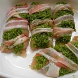 Pesto Chicken Wrapped in Bacon