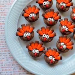 mini brownie turkeys printer friendly