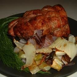 Roasted Pork, Fennel, and Onions