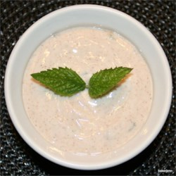 Fresh Fruit Minty Dip Recipe