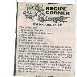 Hot Dog Chili Sauce