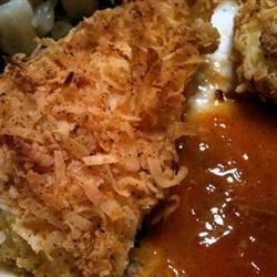 Photo of Coconut Tilapia with Apricot Dipping Sauce by Diane Horn Talts