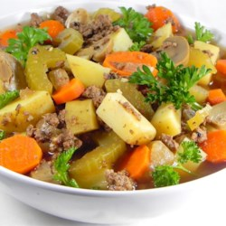 Beef and Beer Vegetable Soup