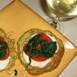 Photo of Zucchini Fritters with Fresh Mozzarella and Tomato by bookreader451