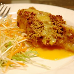 Macadamia-Crusted Sea Bass with Mango Cream Sauce Recipe