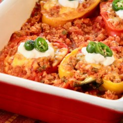 low carb turkey stuffed peppers printer friendly