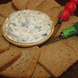Vegetarian Appetizers: Pumpernickel Spinach Dip II Vegetarian Appetizers Spinach Recipe Spinach Dip Recipe Details Bread Bowl Appetizer
