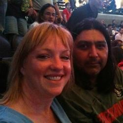 Marie and Mark at Rush concert 2010