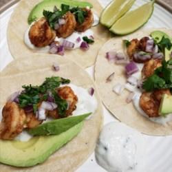 shrimp tacos with cilantro lime crema printer friendly