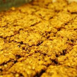 Hazelnut granola bars
