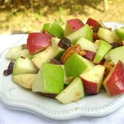 Waldorf Salad with Walnut Oil Vinaigrette