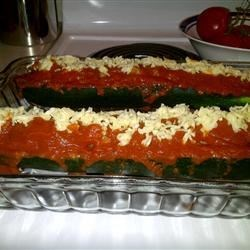 Italian Meatloaf in Zucchini Boats Recipe