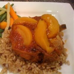 Photo of Golden Peach Pork Chops by Adele  Durocher