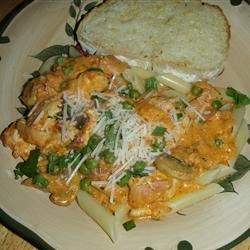 Chicken with Red Pepper Cream Sauce Recipe