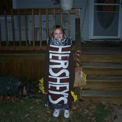 Mackenzie's Hershey Bar costume