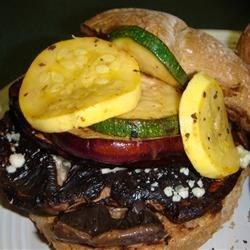 Grilled Veggie-Portobello Mushroom Burgers Recipe