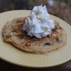 Overnight Raisin Oatmeal Pancakes Recipe