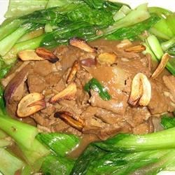 Beeef Strips with Pak Choi in Hoisin Sauce
