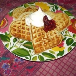 Scandinavian Sweetheart Waffles Recipe