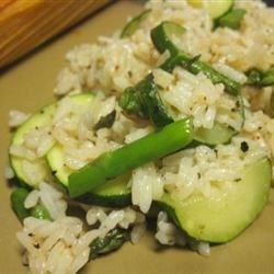 Asparagus-Zucchini Rice Recipe