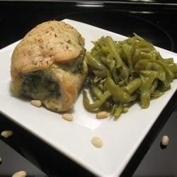 Pesto Mozzerella Chicken Rolls