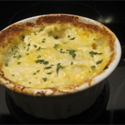 Double Cheesy Au Gratin Potatoes  Recipe