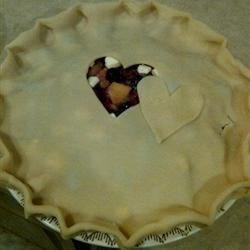 Peach-A-Berry Pie, before baking.